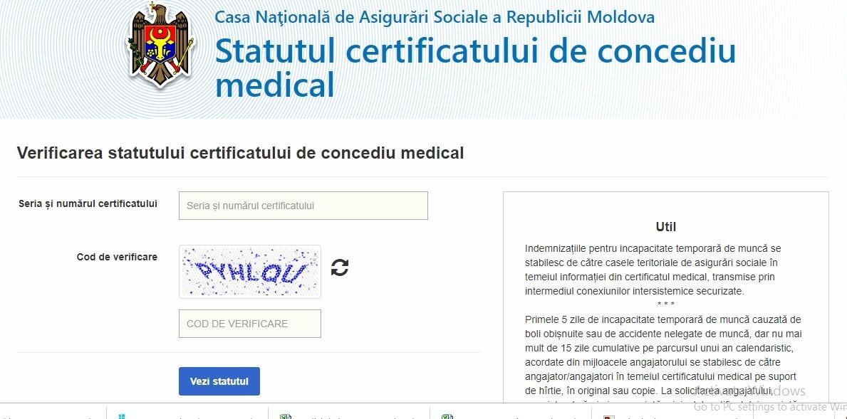 CNAS a lansat un serviciu care le permite persoanelor care s-au aflat în concediu medical să afle când vor primi indemnizațiile