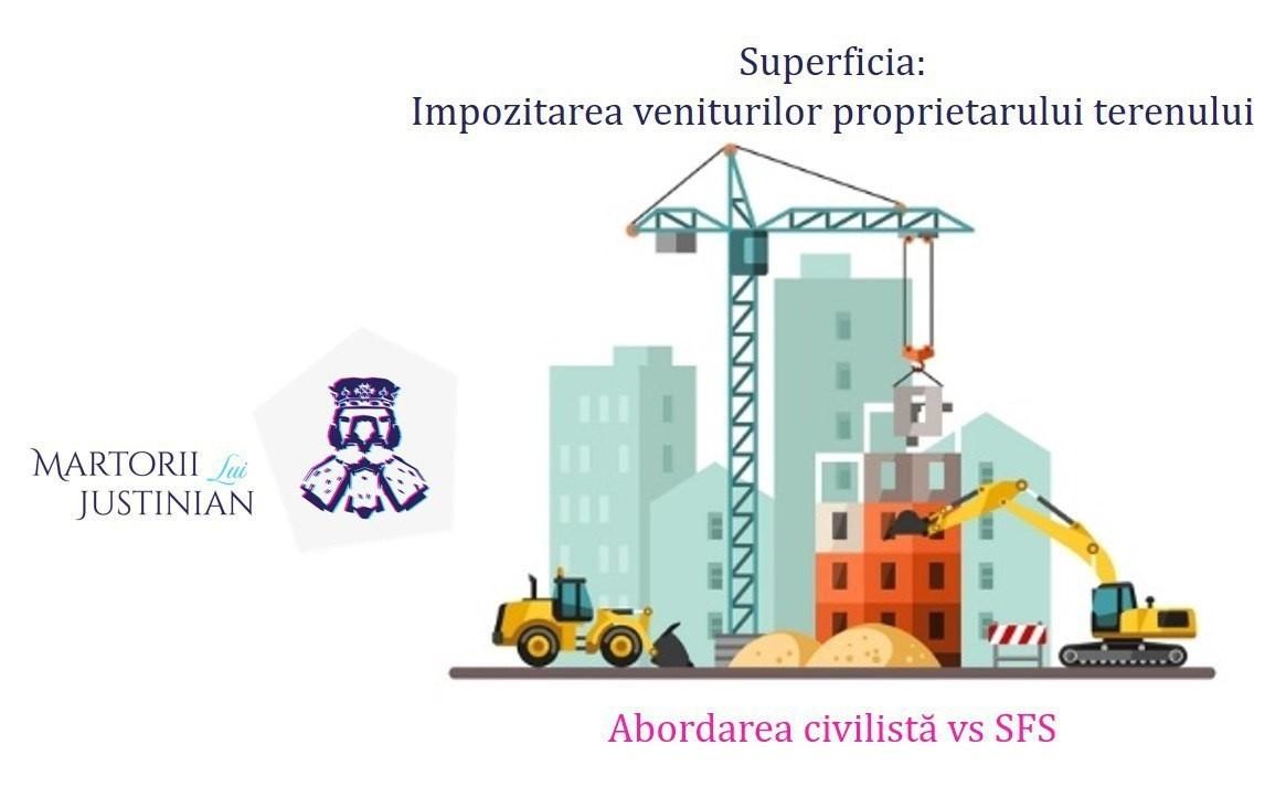 Superficia: impozitarea veniturilor proprietarului terenului. Abordarea civilistă vs Serviciul Fiscal