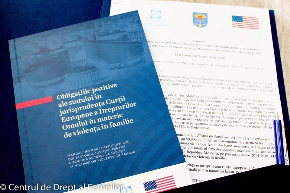 """A fost lansat manualul """"Obligațiile pozitive ale statului în jurisprudența CtEDO în materie de violență în familie"""""""