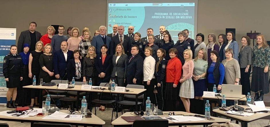 Programul de socializare juridică în școlile din Republica Moldova a fost lansat oficial