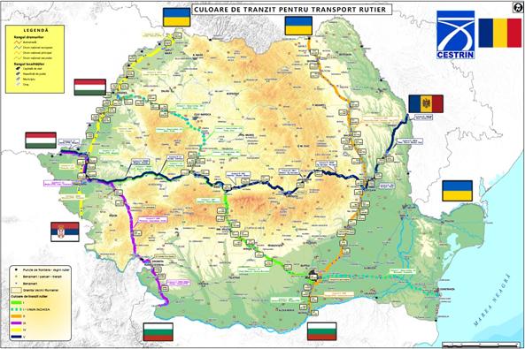Culoare de tranzit pe teritoriul României pentru transportul de marfă