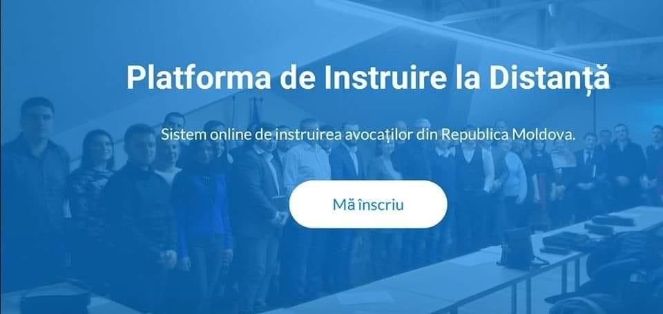 """Avocații și stagiarii sunt invitați să-și creeze Cont personal pe Platforma de Instruire la Distanță """"pia.md."""""""