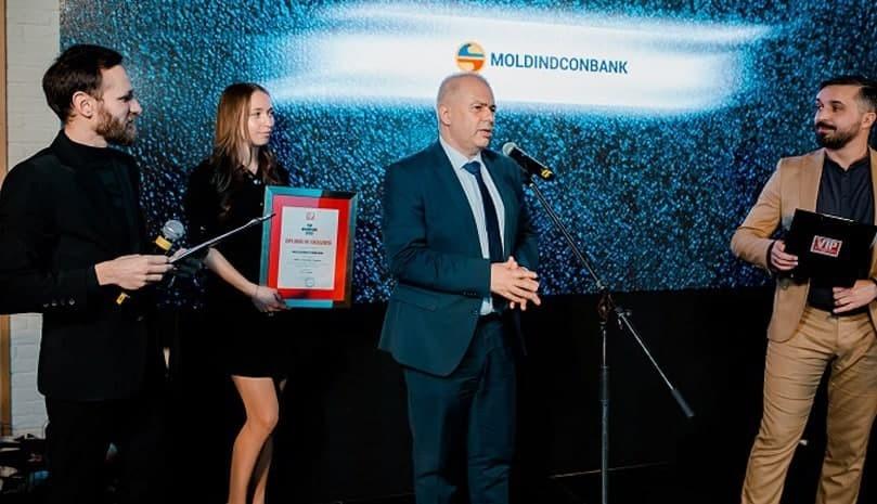 """Moldindconbank, desemnată """"Brandul anului 2020"""" la categoria bănci/asigurări/finanțe"""