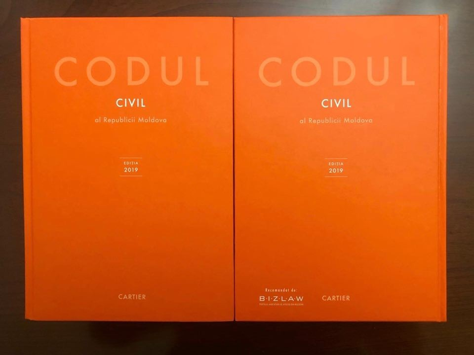Codul civil, tipărit în redacție nouă, va fi găsit, de luni, în librăriile editurii Cartier. Ediție recomandată de BizLaw