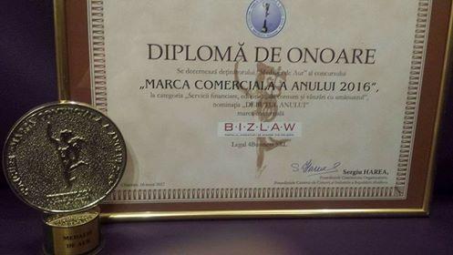 Medalie de aur pentru BizLaw, la Gala Businessului Moldovenesc